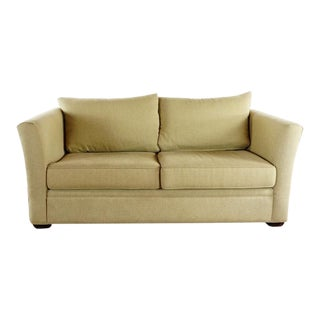 Room & Board Contemporary Beige Upholstered Two Cushion Sofa For Sale