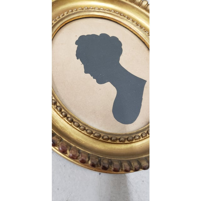 Paper 19th Century Silhouette Portrait of a Young Woman For Sale - Image 7 of 8