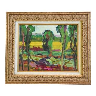 Listed Artist Juan Guzman Ojai Landscape Sunset Oil Painting For Sale