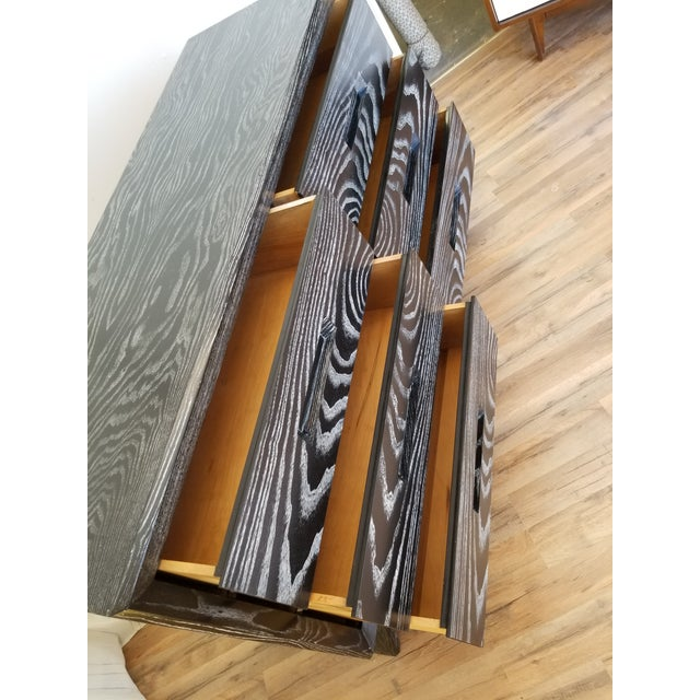 Mid Century Black Ceruse Dresser For Sale - Image 9 of 13
