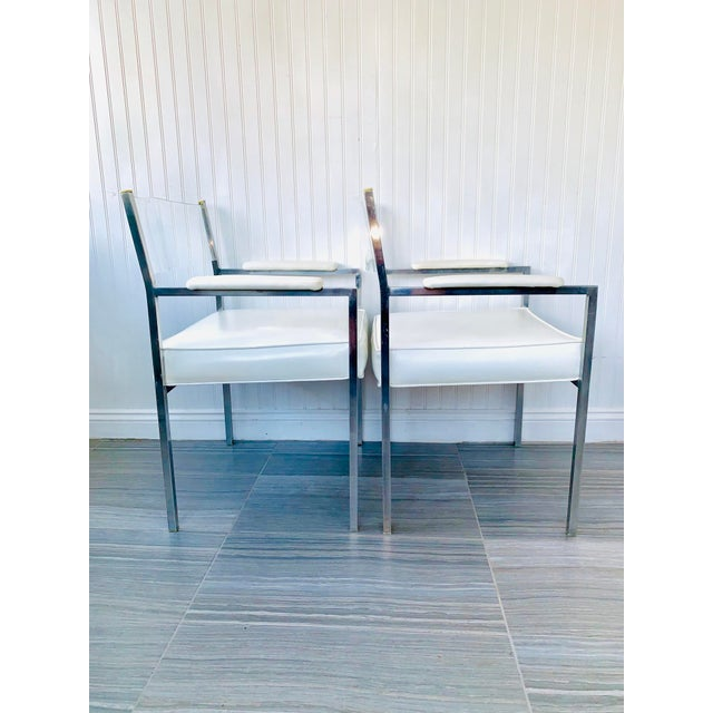 Contemporary 1970s Vintage Lucite Armchairs- A Pair For Sale - Image 3 of 13