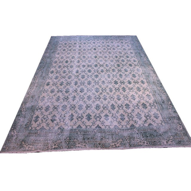 "Vintage Turkish Hand Woven Anatolian Rug -- 7'1"" X 10'1"" For Sale"