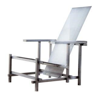Gerrit Rietveld Style Industrial Steel Chair For Sale