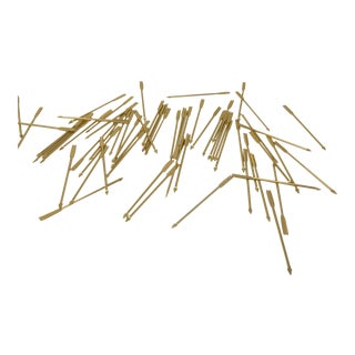 English Gold Plate Cocktail Arrows in Original Box Set of 63 For Sale