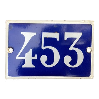 Parisian Street Sign Number