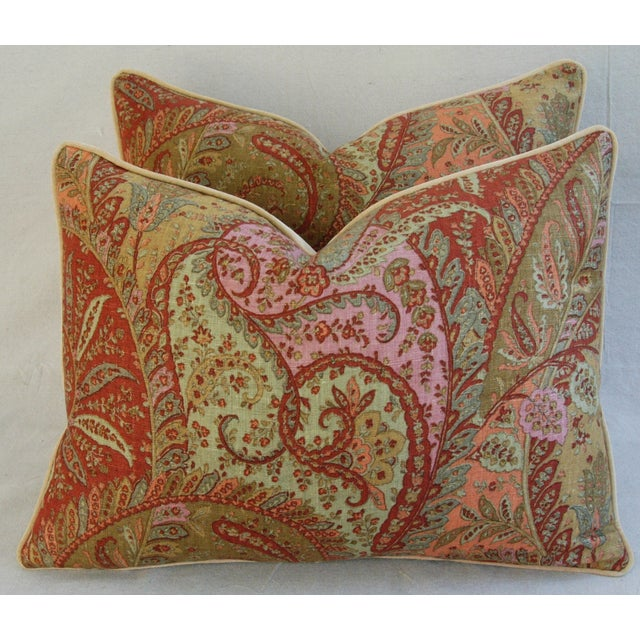 Designer Brunschwig & Fils Paisley Pillows - Pair - Image 4 of 9