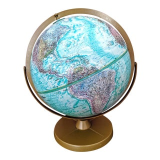 1990s Vintage Leroy M Tolman Replogle World Ocean Series Globe For Sale