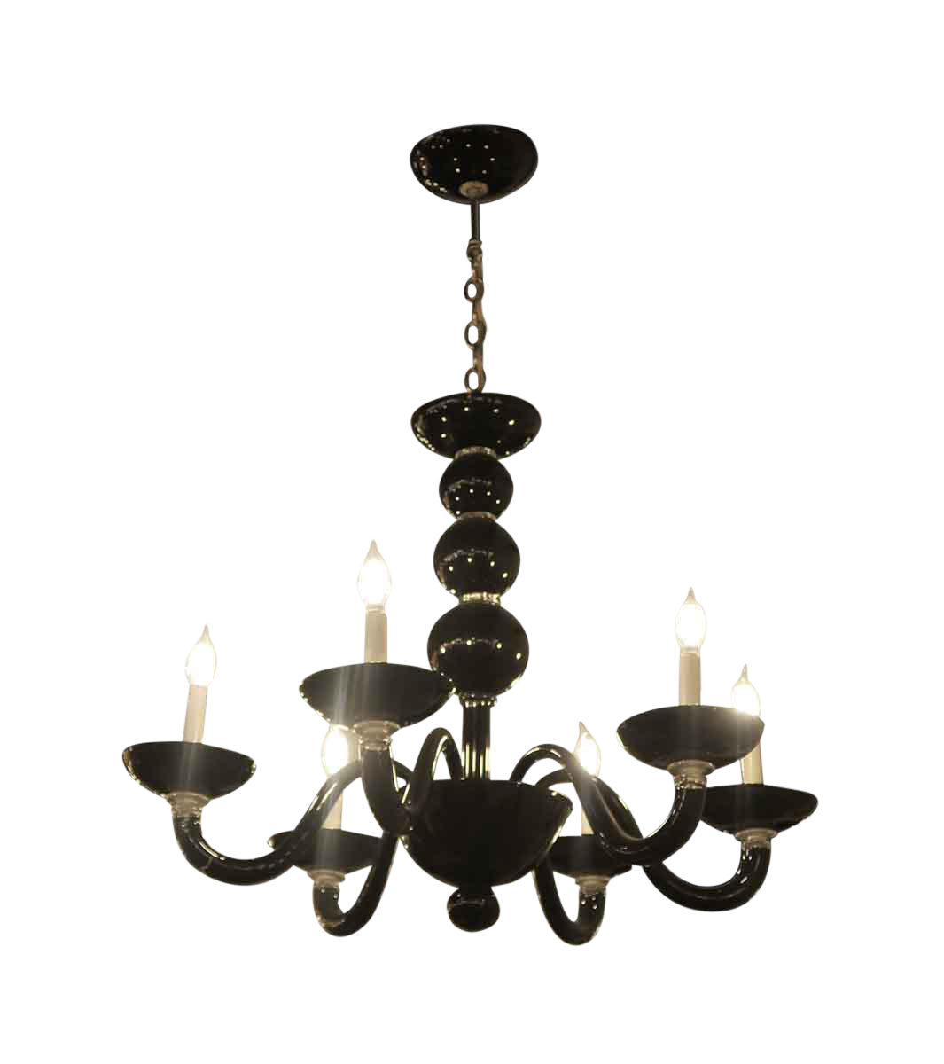 Vintage Black Murano Glass Chandelier Chairish