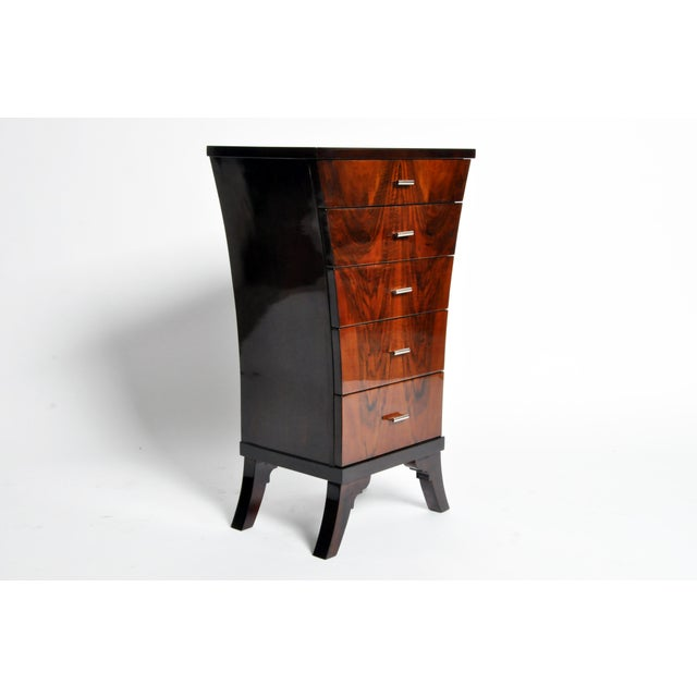 Art Deco Style Chest of Drawers with Curved Sides - Image 5 of 11