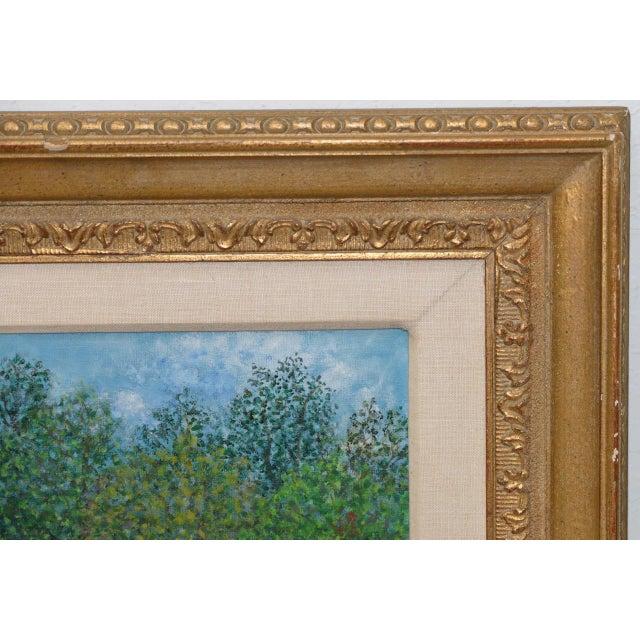 "Folk Art Mollie Simon ""Bandstand in the Park"" Vintage Folk Art Painting C.1960s For Sale - Image 3 of 8"