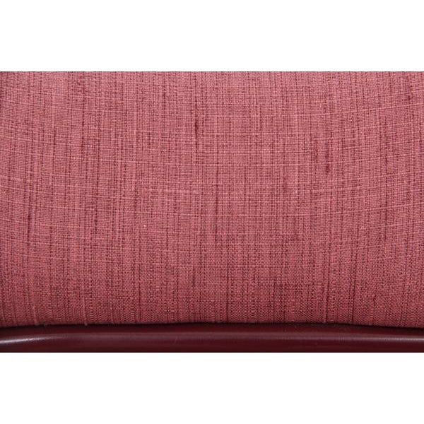 Dusty Rose and Berry Barrel Back Side Chairs - a Pair - Image 5 of 6