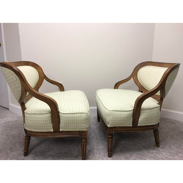 Hollywood Regency Grosfeld House Inspired Bedroom Chairs - a Pair For Sale - Image 3 of 11