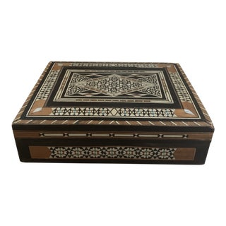 Vintage Moroccan Inlay Box For Sale