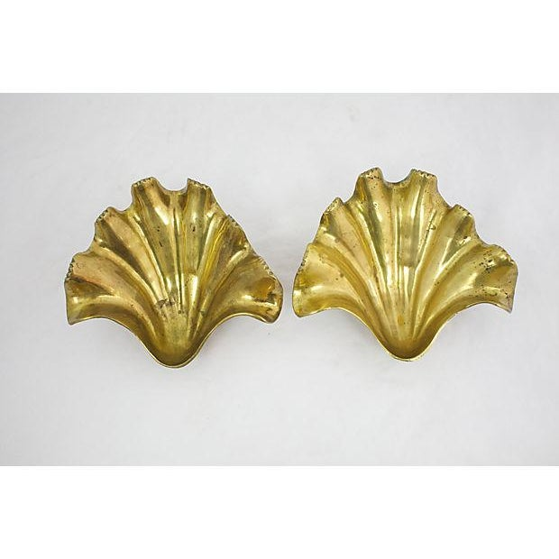 Brass Clam Shells - A Pair For Sale In Los Angeles - Image 6 of 10