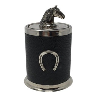 Vintage Cigarette Holder With Horse Head and Horse Shoe For Sale
