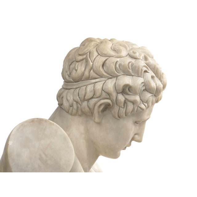 Classical Marble Bust of Hermes Holding Dionysus After the Antique by Praxiteles For Sale - Image 12 of 13