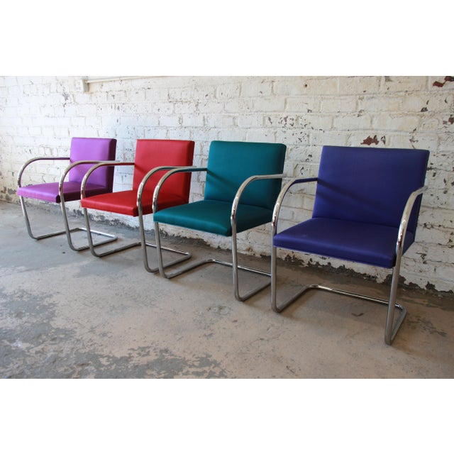 Mies Van Der Rohe for Knoll International Brno Chairs - a Pair For Sale - Image 9 of 11