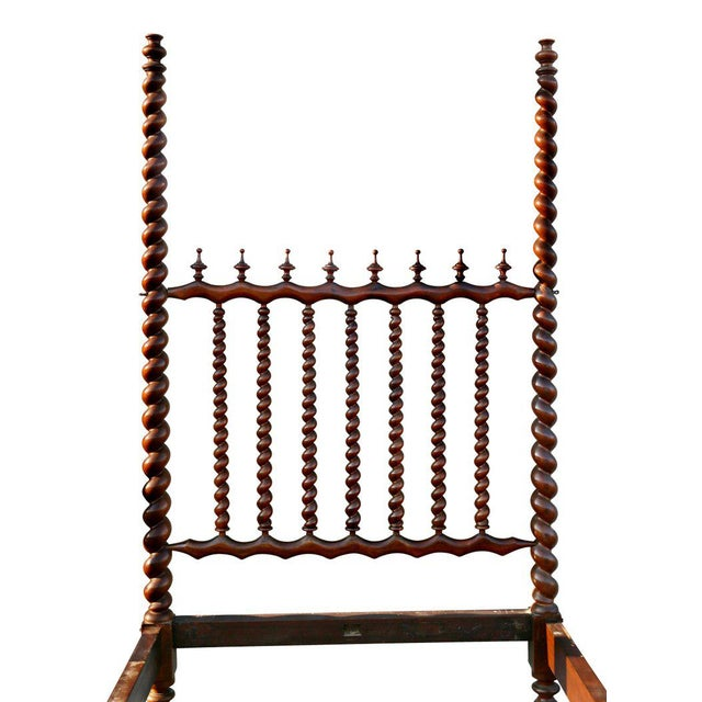 Portuguese Rosewood Tester Bed For Sale In Boston - Image 6 of 10