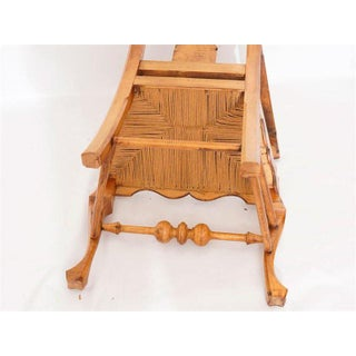 Six Chippendale Style Tiger Maple Dining Chairs Preview