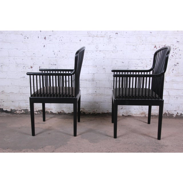Stendig Andover Black Spindle Armchairs - a Pair For Sale In South Bend - Image 6 of 13