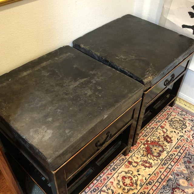 Antique Chinese Stone Top Side Tables - a Pair For Sale - Image 9 of 13