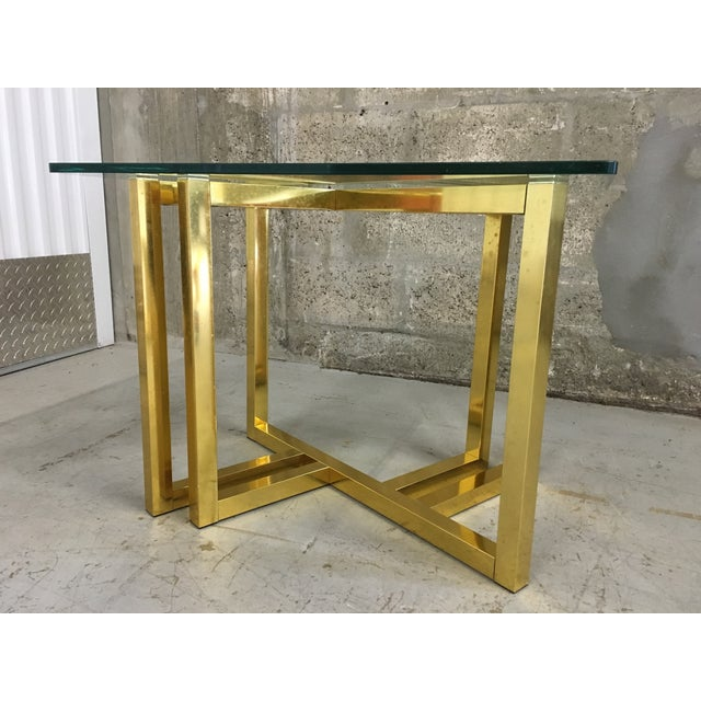 Mid-Century Modern Anodized Aluminum End Table - Image 6 of 7