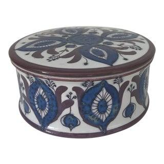 Vintage Royal Copenhagen Porcelain Lidded Box For Sale