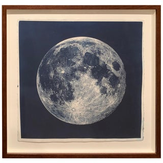 Framed Cyanotype of the Near Side of the Moon For Sale