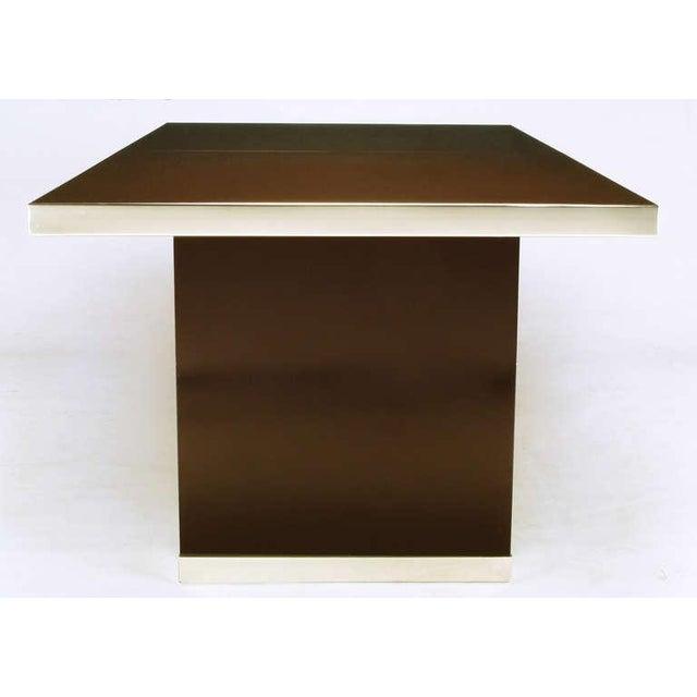 Pierre Cardin Chrome & Dark Chocolate Brown Dining Table - Image 5 of 7
