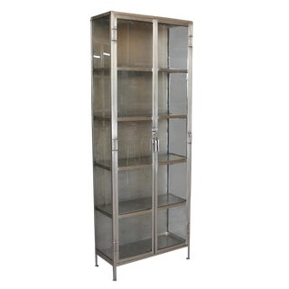 Nickel Display Cabinet For Sale