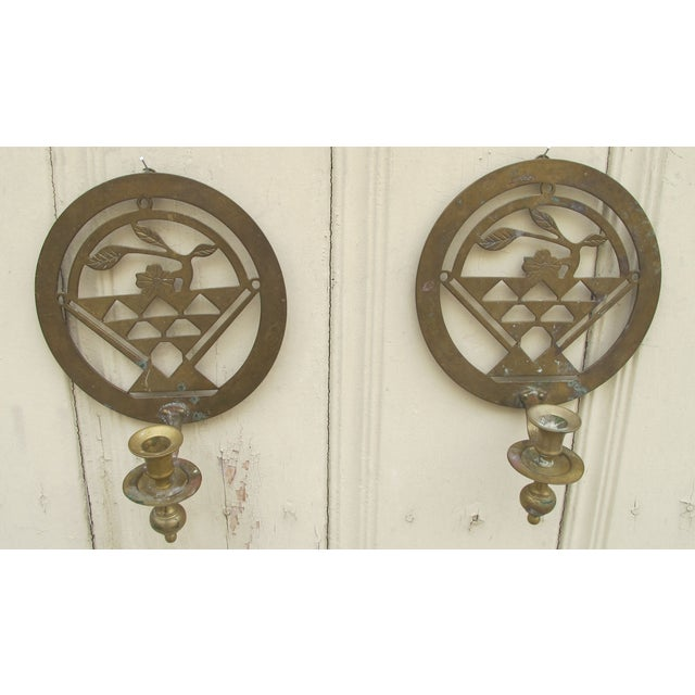 Brass Art Deco Candle Holders - A Pair - Image 2 of 5