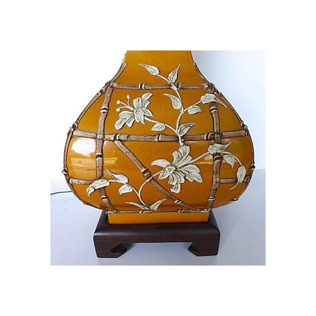 Asian Bamboo Design Table Lamp - Image 6 of 7