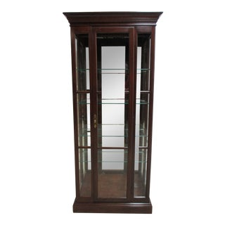 Ethan Allen Georgian Court Petite Crystal Curio Cabinet Hutch Display For Sale