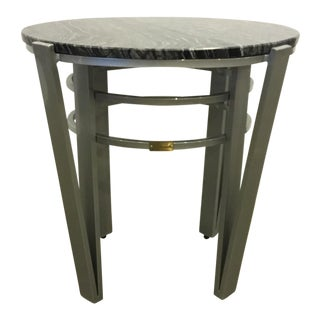 Lane Venture Indoor/Outdoor Modern Marble End Table For Sale
