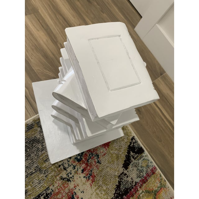 Tromp l'Oeil Stack of Books Side Table For Sale - Image 9 of 10