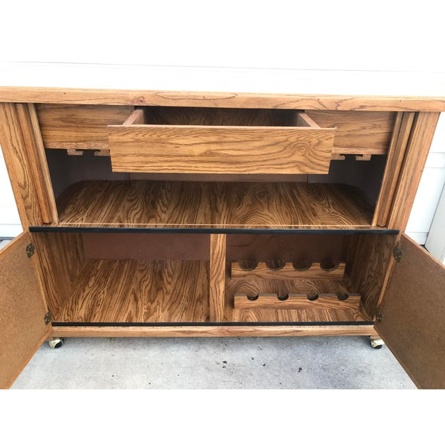 Vintage 1960s Rolling Dry Bar with Tambour Doors - Image 5 of 9
