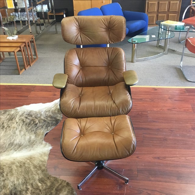 Selig Eames Style Chair & Ottoman - Image 3 of 11