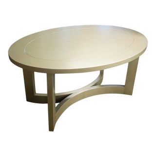 Fremarc Designs Oval Cocktail Table For Sale