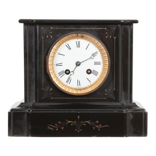 English 19th Century Aesthetic Movement Marble Mantel Clock For Sale