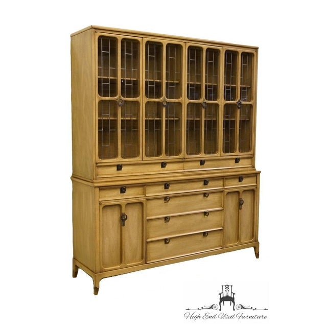 """WHITE of MEBANE Contemporary French Style 67"""" China Cabinet 7510-90 7510-92 78.25"""" High 66.75"""" Wide 19.75"""" Deep We..."""