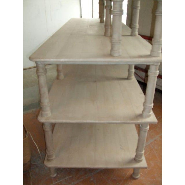Grey Painted French Shelving Unit For Sale In Boston - Image 6 of 8
