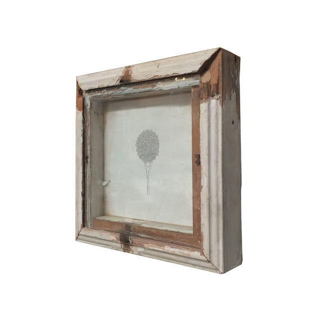 Drawing in vintage frame by LA artist Tony Brown. Great piece for rustic or shabby chic decor!