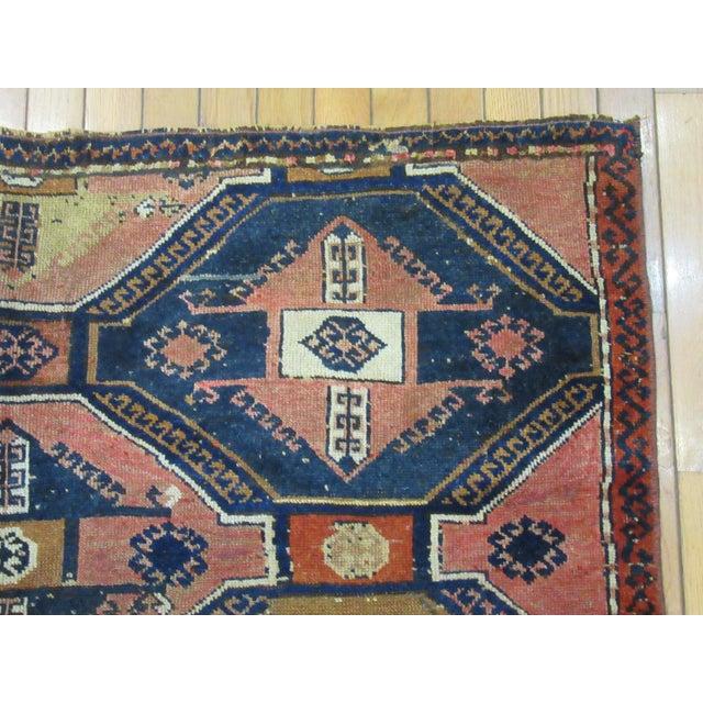 "1970s Vintage Handmade Wool Turkish Anatolian Rug-4'3'x4'10"" For Sale - Image 5 of 10"