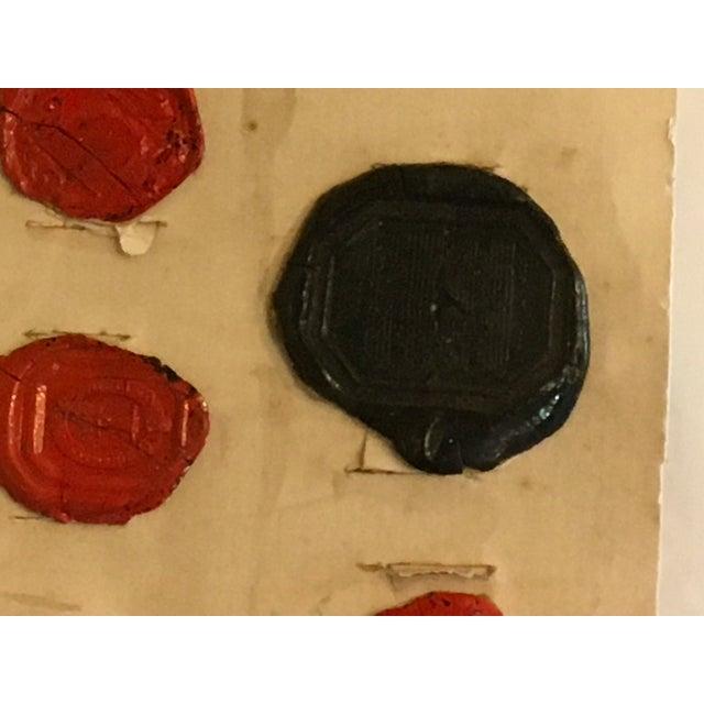 Antique English Multi Color Intaglio Wax Seals For Sale - Image 9 of 13