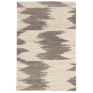 Jaipur Living Ozark Hand-Knotted Geometric Ivory/ Light Brown Area Rug - 2′ × 3′ For Sale