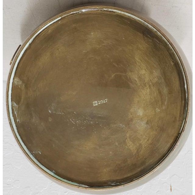 1930s Hayno Focken (Germany, 1905-1968) Brass Teapot W/ Lid C.1930 For Sale - Image 5 of 6