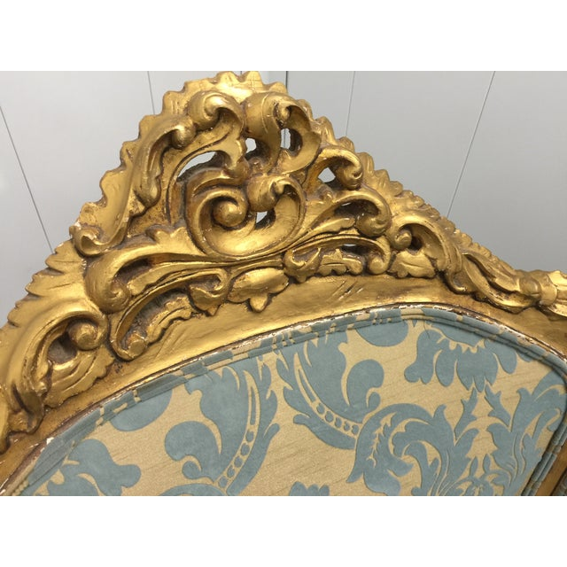 Antique French Louis XV Gilt Wood Chairs - Pair - Image 6 of 11