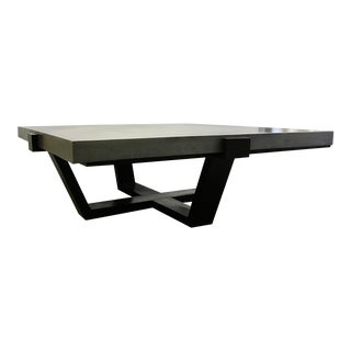 Hickory White Industrial Modern Large Square Silver Finished Cocktail Table For Sale