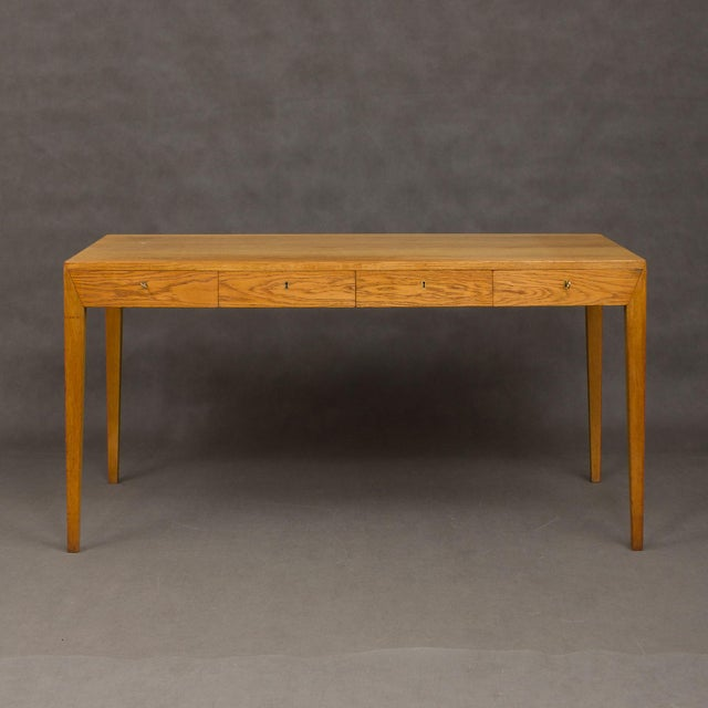An extremely rare piece and one of the most desirable pieces of Severin Hansen. The four drawers minimalist desk with...