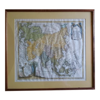 Antique Scarce Asia Map Tab by Leonard Von Euler For Sale
